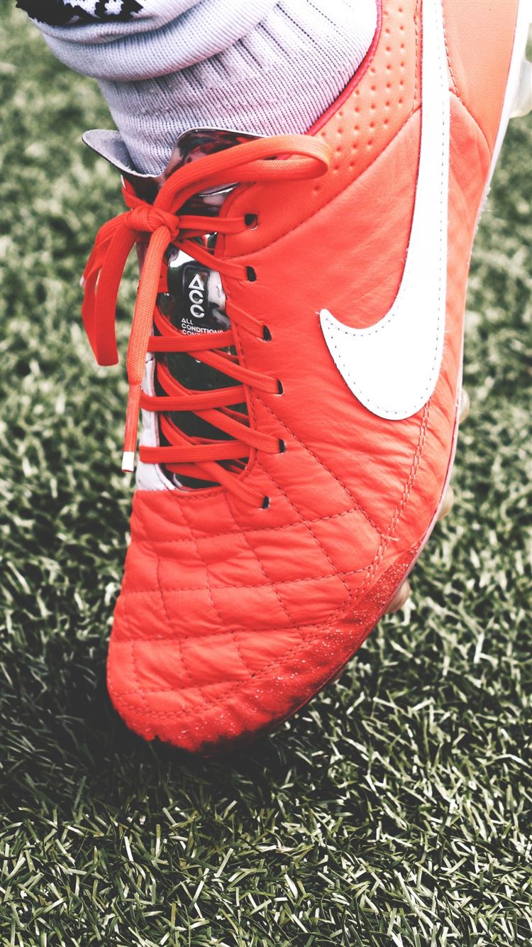 Nike Football Shoes Lawn iPhone 8 Wallpapers Free Download