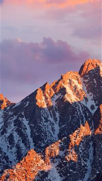 Mac Os Apple Art Background Mountain iPhone 6(s)~8(s) wallpaper