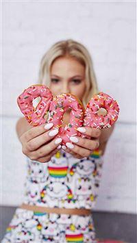 Jordin Jones Cookie Pink Cute iPhone 6 wallpaper