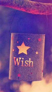 Hanging Star Pattern Wish Bottle iPhone 6(s)~8(s) wallpaper
