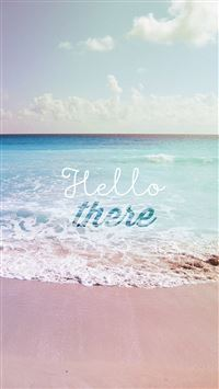 Hello There Summer Wave Beach iPhone 6(s)~8(s) wallpaper
