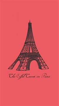 Eiffel Tower In Paris Painting Art iPhone 6(s)~8(s) wallpaper