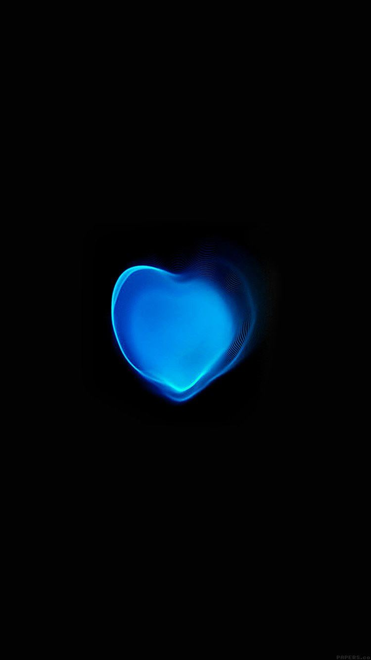Love Applewatch Art Blue Illust Dark ...