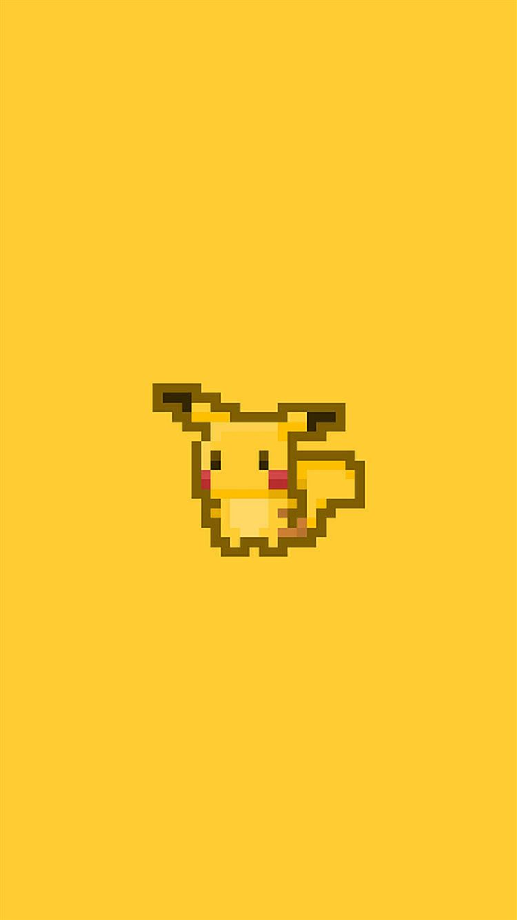 Pikachu Pokemon Pixel Art Iphone 8 Wallpapers Free Download