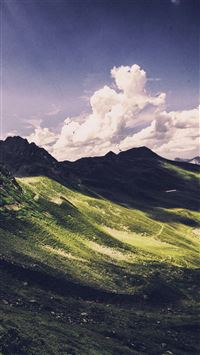Nature Mountain Green Cloud Sunny Summer iPhone 6(s)~8(s) wallpaper