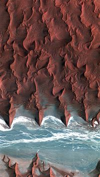 Namib Desert Red Earthview Pattern iPhone 6(s)~8(s) wallpaper