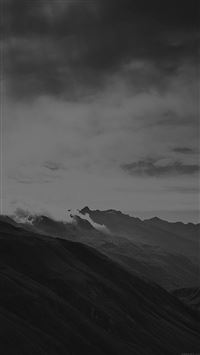 Mountain Art Fog Nature Dark Bw iPhone 6(s)~8(s) wallpaper