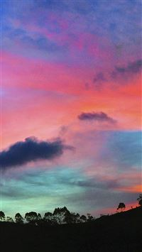 Sky Rainbow Cloud Sunset Nature iPhone 6(s)~8(s) wallpaper