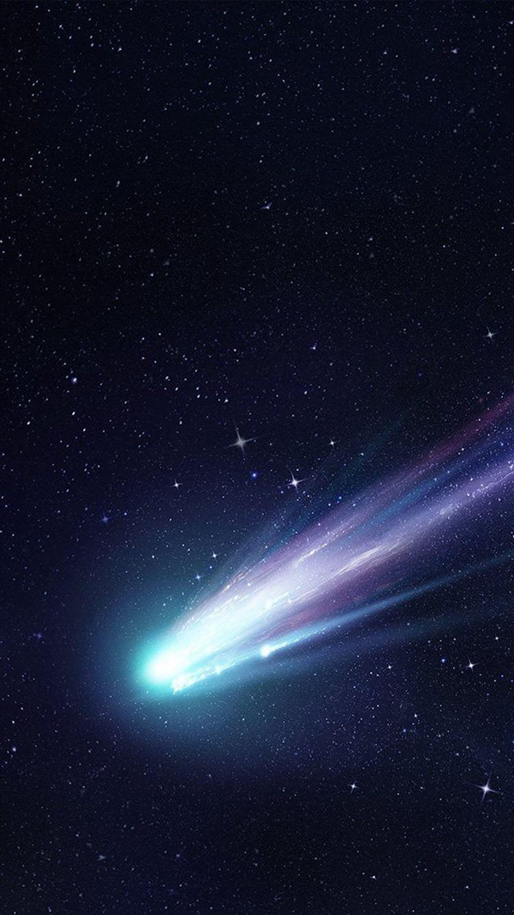 Shooting Star Space Dark Star Blue Art Illustration Iphone 8