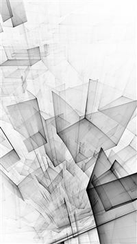 Abstract Bw White Cube Pattern iPhone 6(s)~8(s) wallpaper