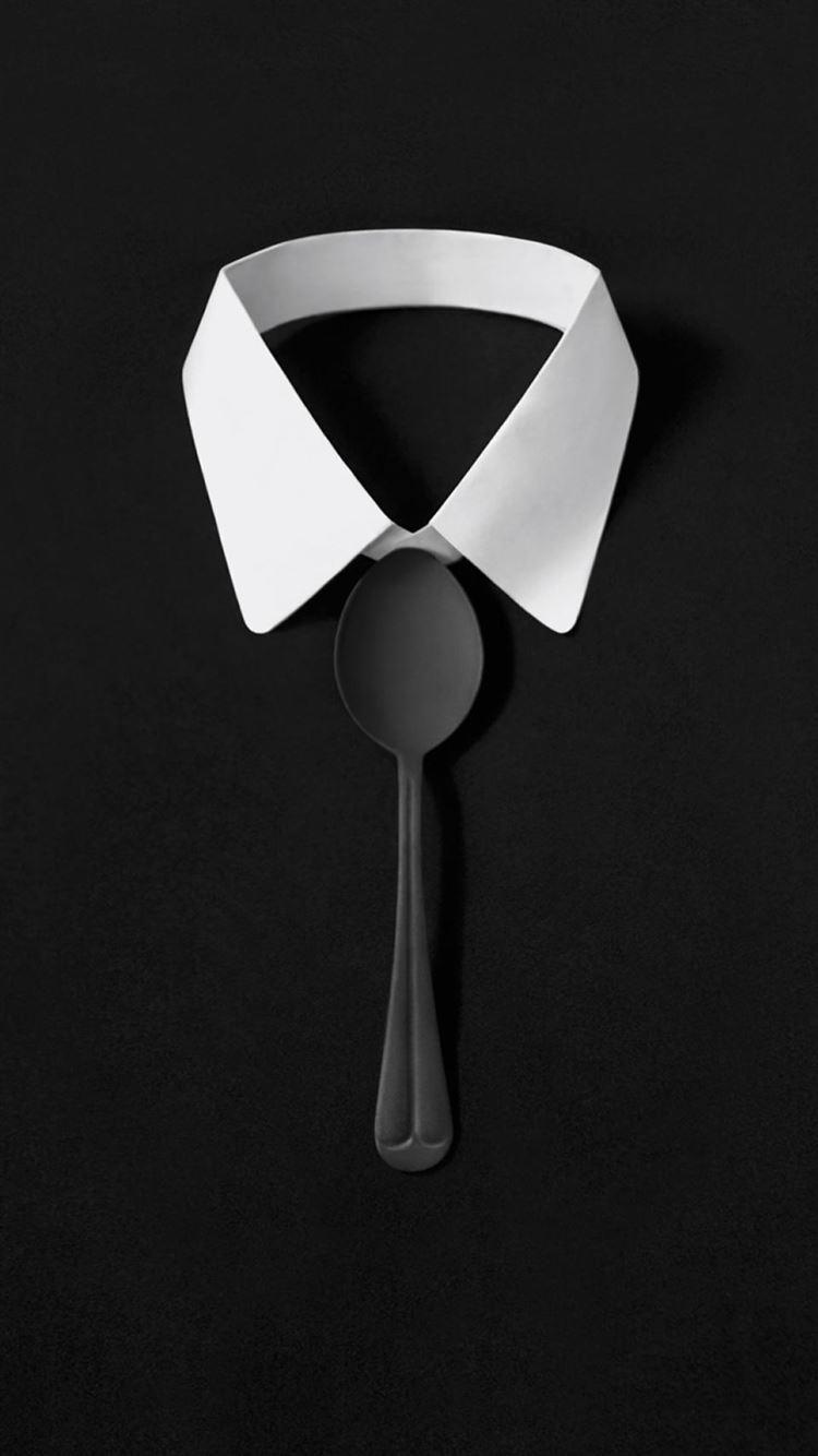Dark Simple Suit Spoon Tie Simple Iphone 8 Wallpapers Free