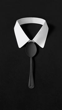 Dark Simple Suit Spoon Tie Simple iPhone 6(s)~8(s) wallpaper