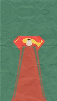 Superman Minimal Art Illustration iPhone 6(s)~8(s) wallpaper