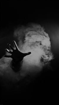 Hand From Smoke Black iPhone 6(s)~8(s) wallpaper