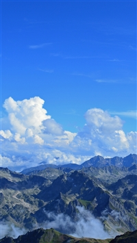 Pyrenees France Mountains Panorama iPhone 6(s)~8(s) wallpaper