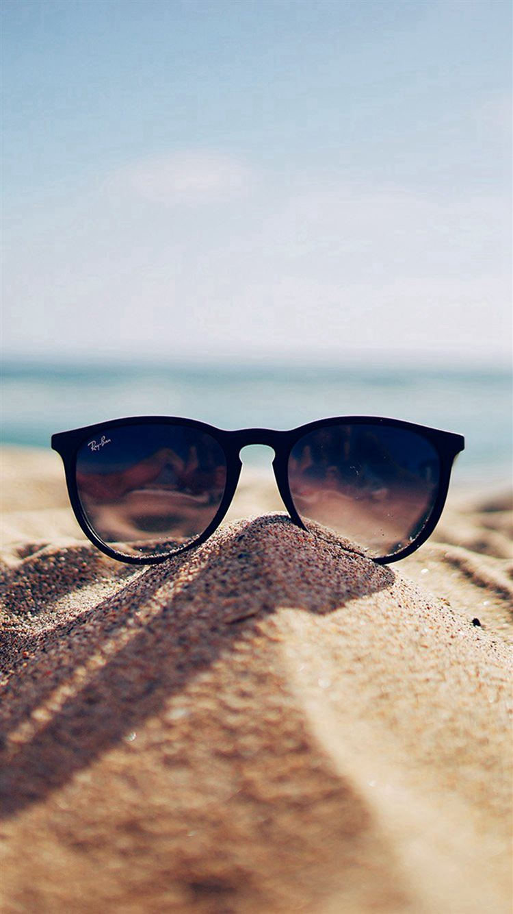Nature Glass Sun Rayban Bokeh Vacation Sea Summer Iphone 8 Wallpapers Free Download
