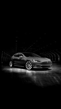 Tesla Model Concept Dark Bw Car iPhone 6(s)~8(s) wallpaper