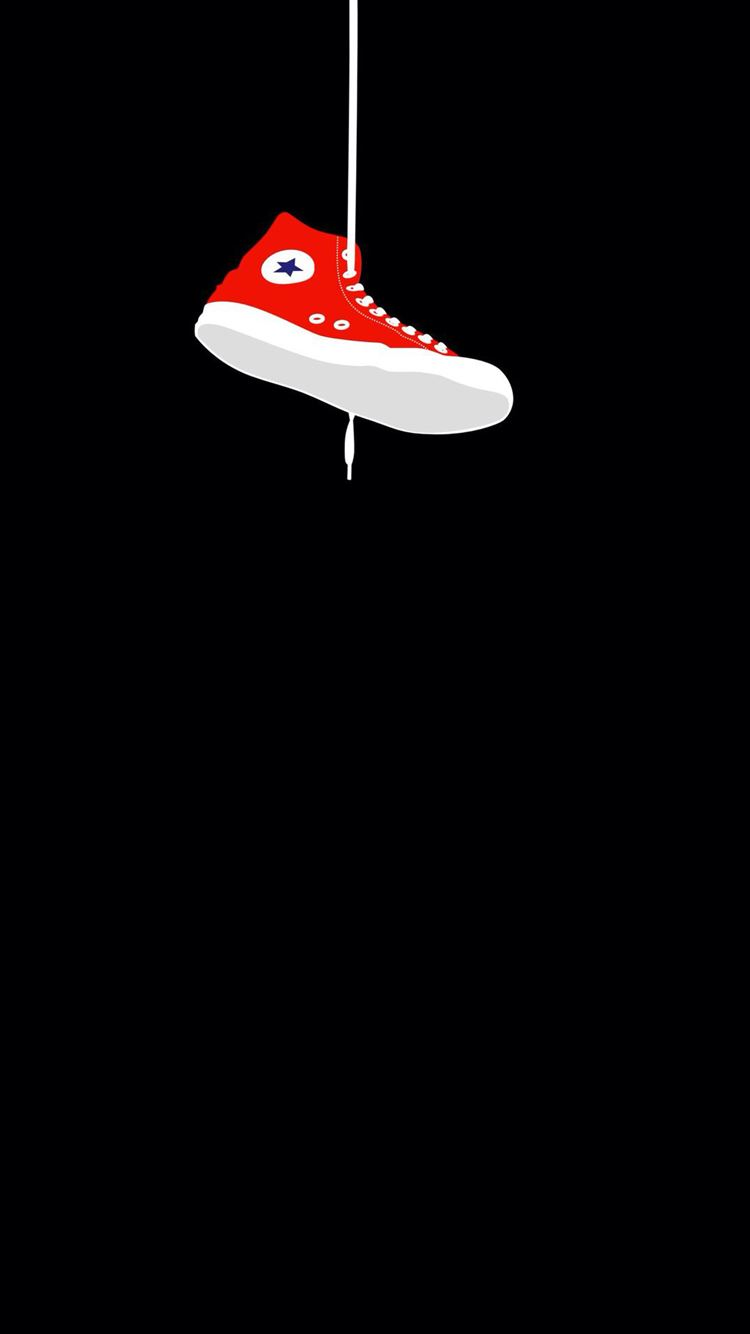Converse Sneaker Hanging Iphone 8 Wallpapers Free Download