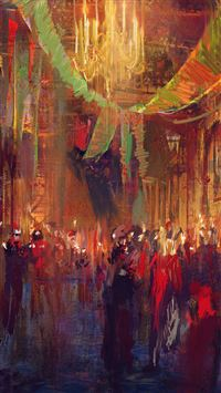Wadim Kashin Illustration Art Concept Paint Red iPhone 6(s)~8(s) wallpaper
