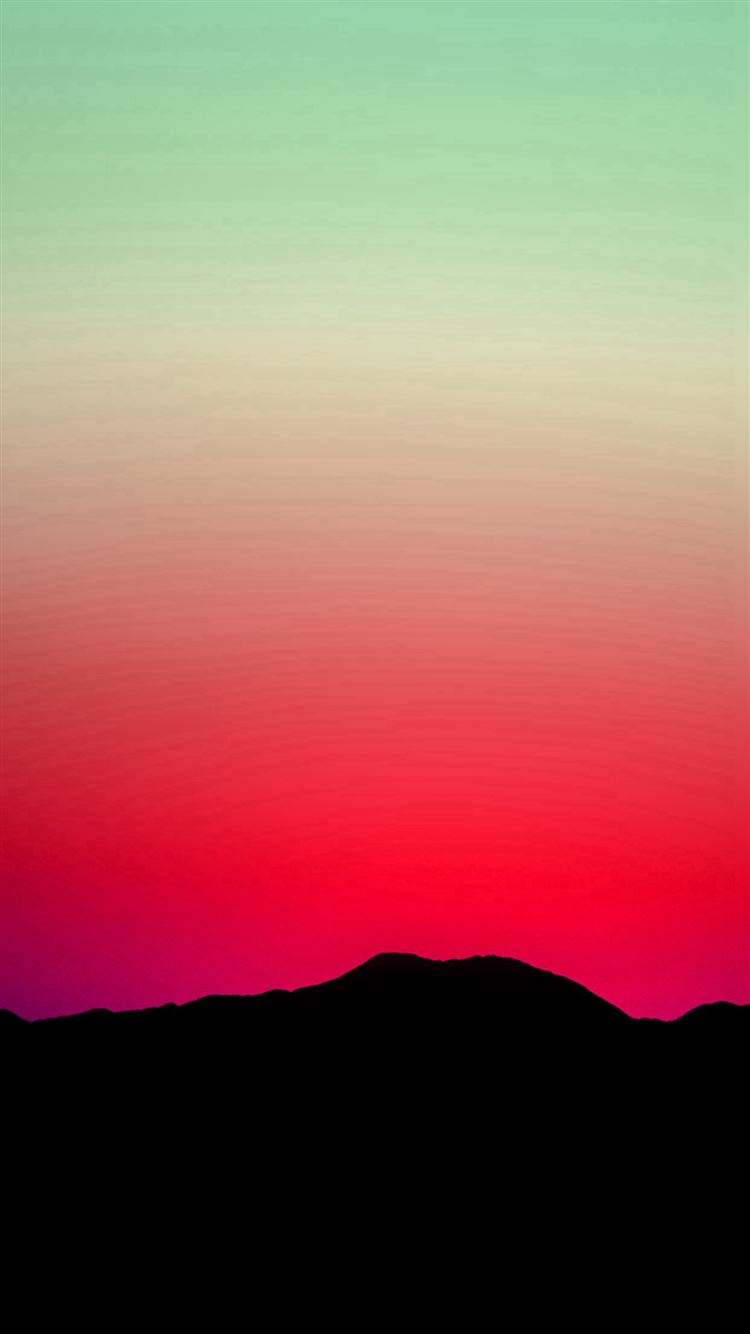 Sunset Sky Minimal Nature Red Green iPhone 8 Wallpaper Download iPhone 8 7 6 Plus