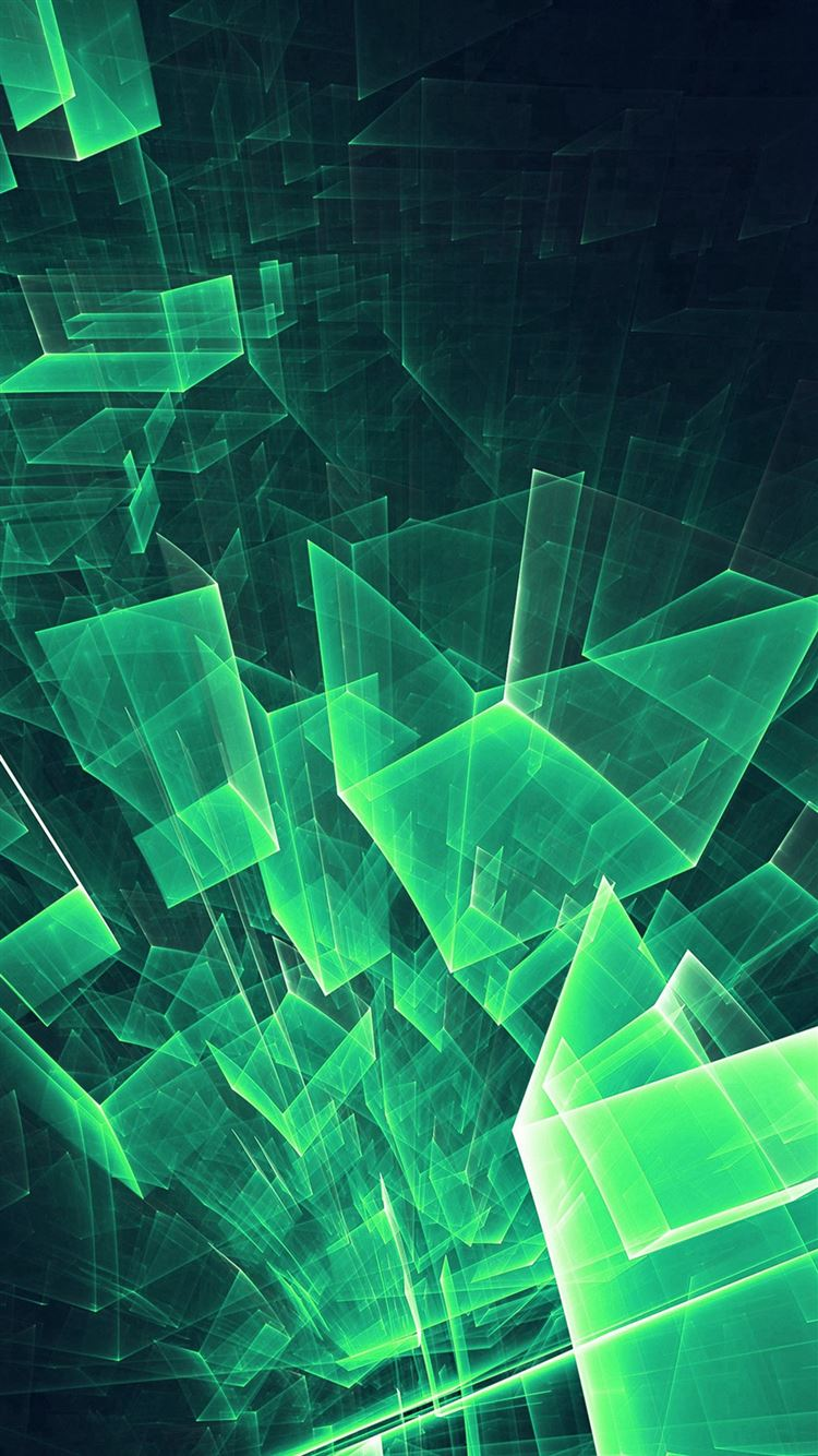 Abstract Blue Green Cube Pattern Iphone 8 Wallpapers Free