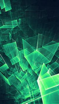 Abstract Blue Green Cube Pattern iPhone 6(s)~8(s) wallpaper
