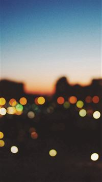 Light Bokeh Sunset City iPhone 6(s)~8(s) wallpaper