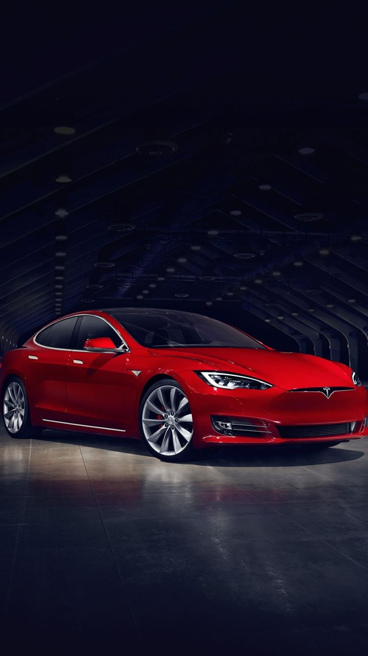 Red Tesla Model S No Grill iPhone 8 ...
