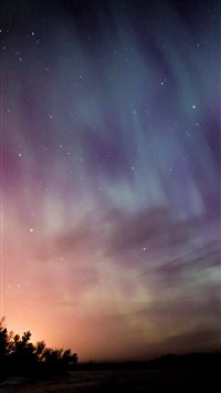 Space Aurora Night Sky iPhone 6(s)~8(s) wallpaper