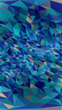 Metaphysics Art Blue Polygon Pattern iPhone 6 wallpaper