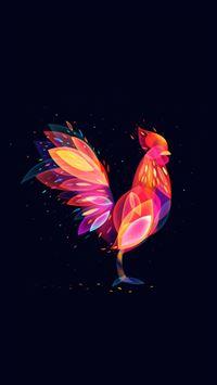 Brilliant Cock Pattern Dark iPhone 6 wallpaper