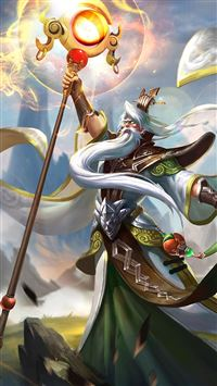 King glory Jiang Ziya Game Poster iPhone 6(s)~8(s) wallpaper