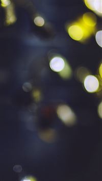 Bokeh Watch Yellow Blue Lights Pattern iPhone 6(s)~8(s) wallpaper