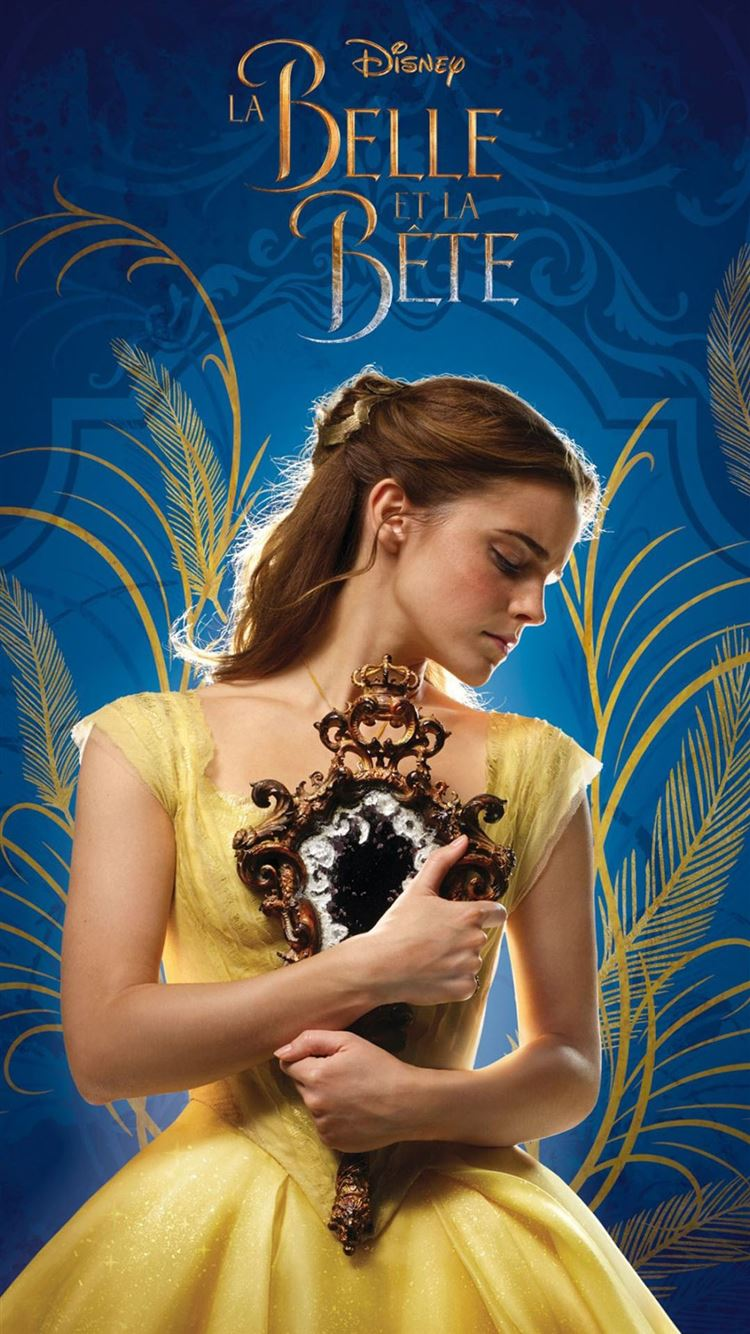 Beauty And The Beast Emma Watson Film Poster Iphone 8 Wallpapers