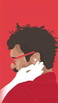 Her Film Poster Red Illustration Art iPhone 6 wallpaper