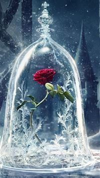Beauty and the Beast Castle Icy Bell Rose Snowflake iPhone wallpaper