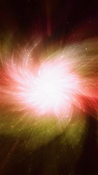 Abstract Cool Aurora Space Pattern Red iPhone wallpaper