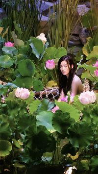 The Lengend Of The Blue Sea Mermaid Beauty Lotus Field iPhone 6 wallpaper