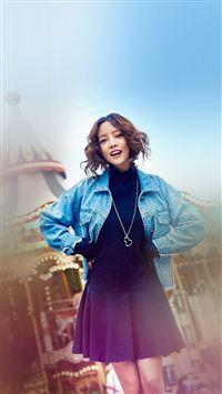 Guhara Girl Kpop Merry Go Round Playground iPhone 6 wallpaper