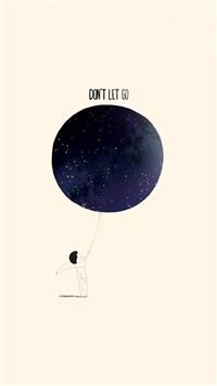 Dont Let Go Illustration Minimal Art iPhone 6(s)~8(s) wallpaper