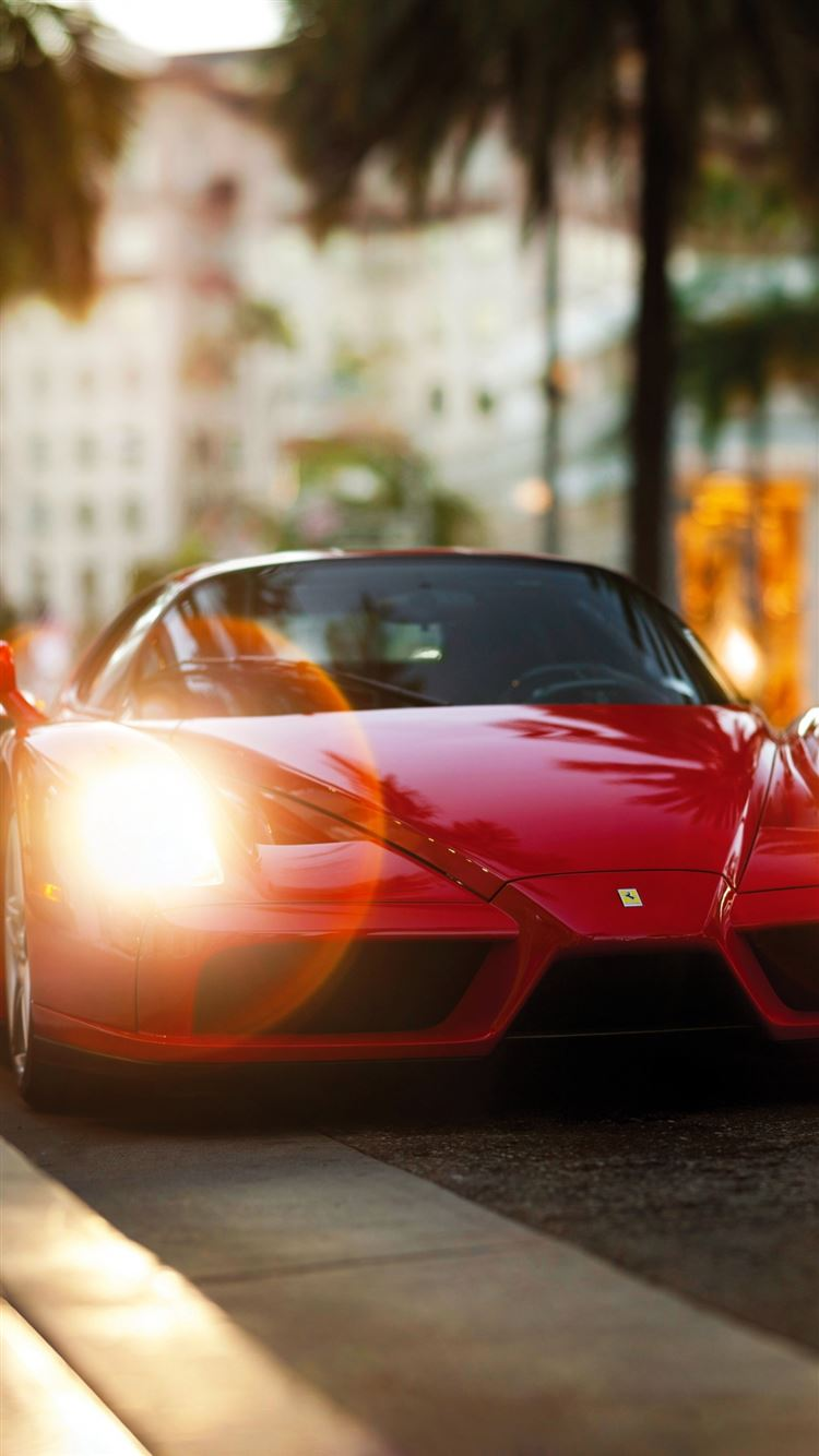 Ferrari Enzo Red Side View Iphone 8 Wallpaper Download Iphone