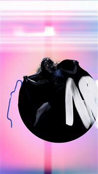 Album Art Girl Neon Light Minimal Illustration Art iPhone 6 wallpaper