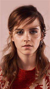 Emma Watson Face Red Film Actress iPhone 7 wallpaper