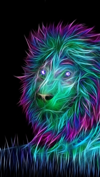 Abstract 3D Art Lion iPhone 6(s)~8(s) wallpaper