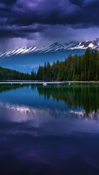 Alberta Canada Valley Of Five Lakes Lake Mountains Reflection iPhone 6(s)~8(s) wallpaper