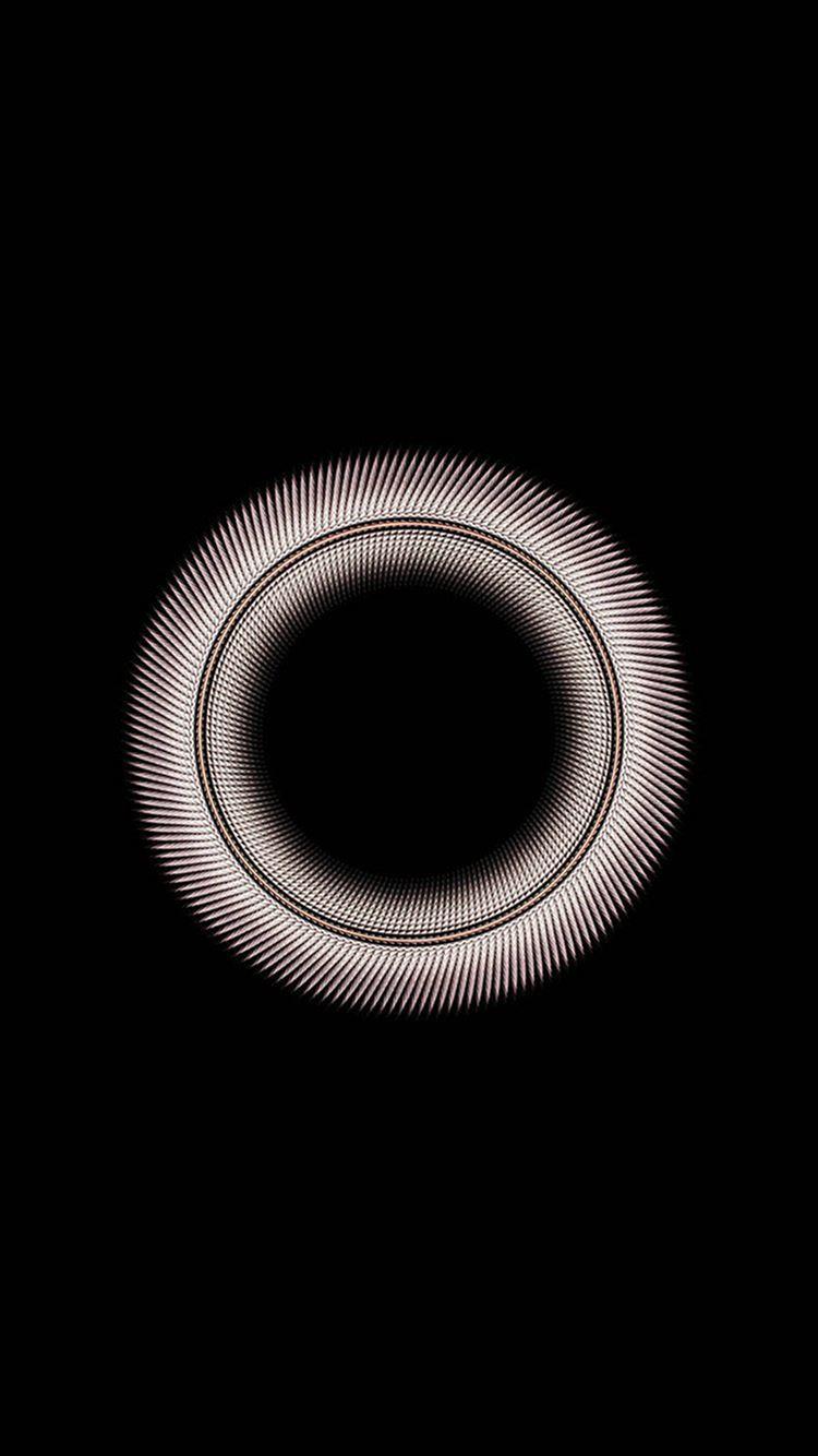 Circle Dark Inside Minimal Simple Pattern Background Iphone