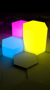 3D Picture Lights Cube iPhone 6(s)~8(s) wallpaper