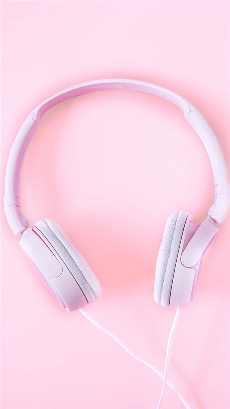 Pure Fashion Headphones Pink Iphone 8 Wallpapers Free Download