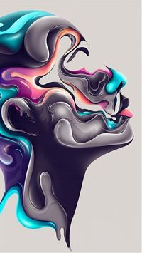 Abstract Design Steel Portrait Art iPhone 6(s)~8(s) wallpaper