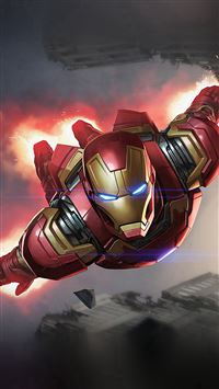 Ironman Hero Marvel Illustration Art iPhone 6(s)~8(s) wallpaper